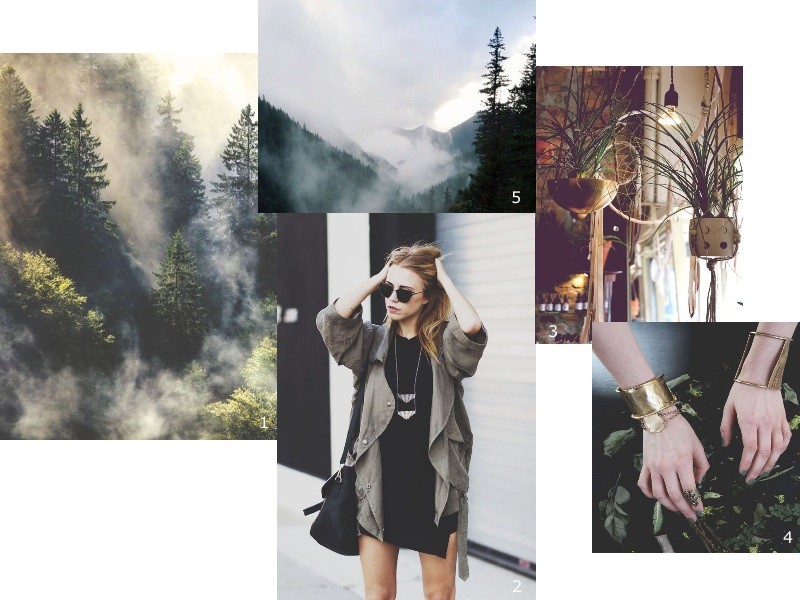 inspiration collage darkgreen