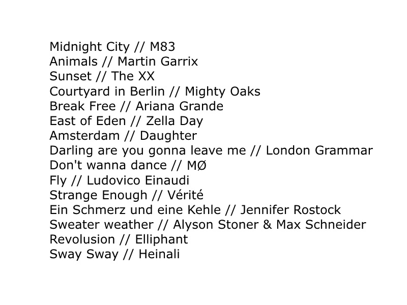 favorite songs 2014