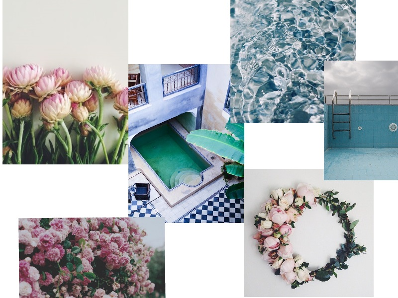 collage moodboard spring